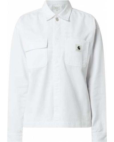 Kurtka jeansowa - biała Carhartt Work In Progress