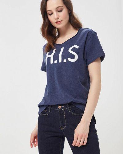 Синяя футболка H.i.s