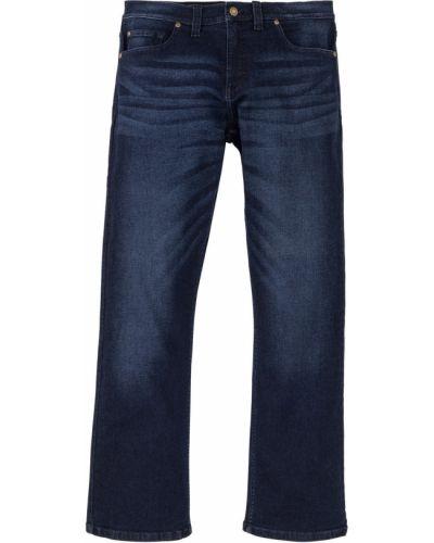 Темно-синие расклешенные джинсы стрейч из вискозы Bonprix