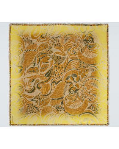 Szalik w kwiaty - żółty Dries Van Noten