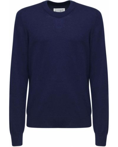 Sweter z łatami wełniany Maison Margiela