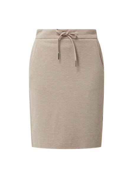 Beżowa spódnica mini z wiskozy Fransa