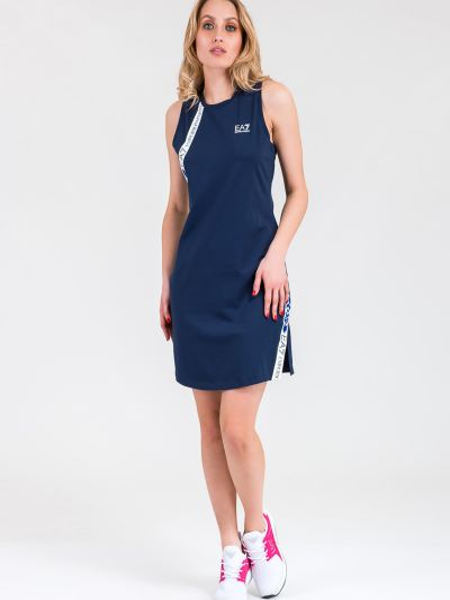 Брендовое спортивное платье для офиса Ea7