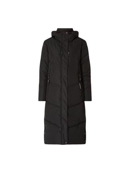 Czarny płaszcz z kapturem Khujo