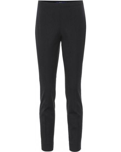 Базовые шерстяные черные зауженные брюки Polo Ralph Lauren