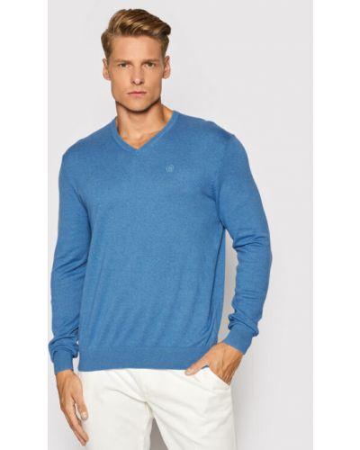 Sweter - niebieski Bugatti
