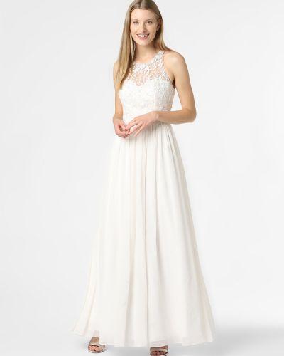 Biała sukienka wieczorowa elegancka Laona