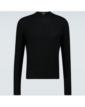 Klasyczny czarny sweter wełniany Tom Ford
