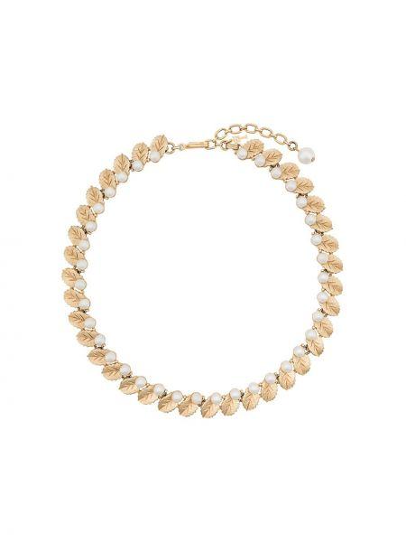 Złoty choker perły vintage Trifari Vintage