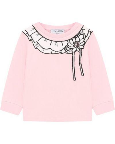 Розовый свитер с пайетками Simonetta
