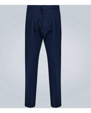 Niebieskie spodnie wełniane Ami