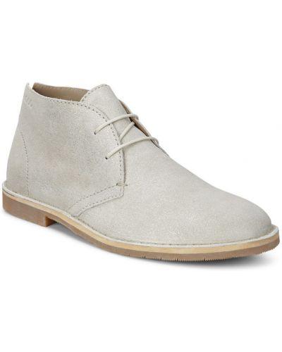 Кожаные ботинки осенние белые Ecco