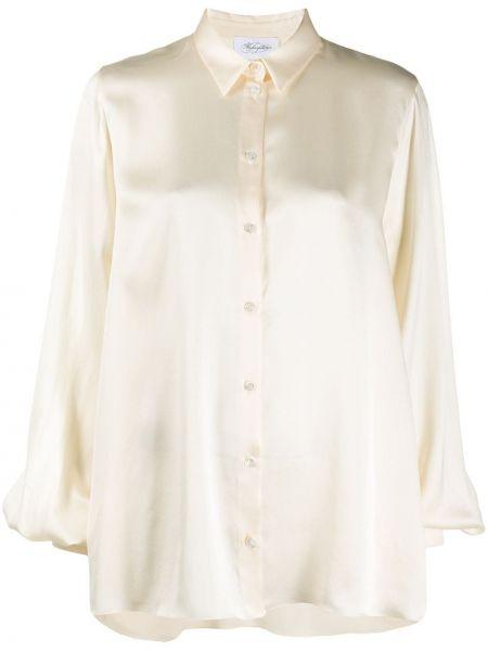 Прямая сатиновая рубашка с воротником на пуговицах Redemption