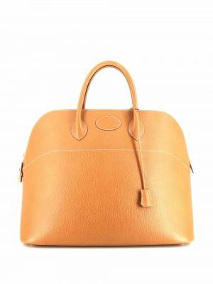 Brązowa złota torebka Hermes
