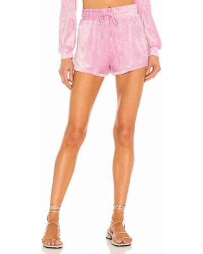 Текстильные розовые шорты на резинке Generation Love