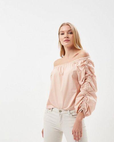 Бежевая блузка с открытыми плечами Befree