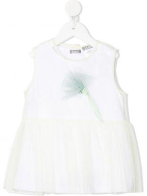 Белая блузка без рукавов из фатина Il Gufo