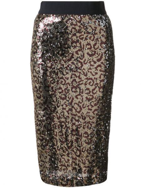 Юбка на резинке леопардовая Milly