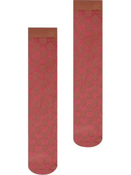Prążkowane wysoki skarpety z nylonu Gucci