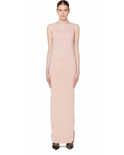 Платье макси розовое платье-майка Ann Demeulemeester