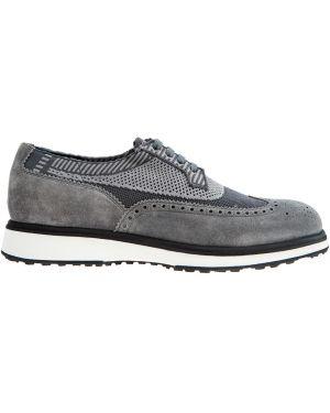 Кожаные ботинки броги повседневные Santoni