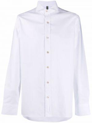 Biała koszula zapinane na guziki Borrelli