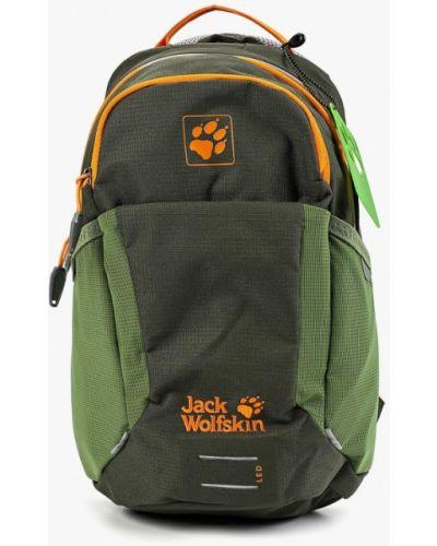 Рюкзак кожаный зеленый Jack Wolfskin