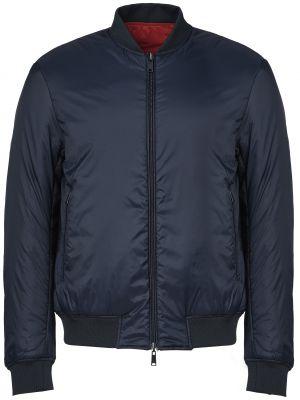 Куртка из полиэстера - синяя Emporio Armani