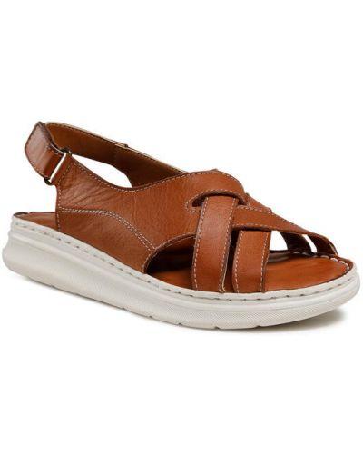 Sandały - brązowe Badura
