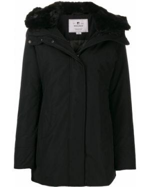 Пальто с капюшоном на молнии шерстяное Woolrich
