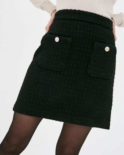 Черная юбка свободного кроя Marks & Spencer