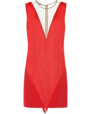 Асимметричное коктейльное платье с бахромой Stella Mccartney