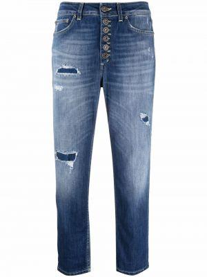 Синие укороченные джинсы Dondup