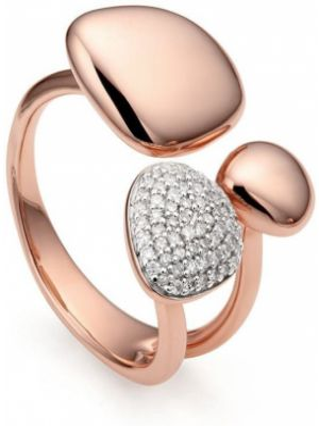 Кольцо с бриллиантом - розовое Monica Vinader