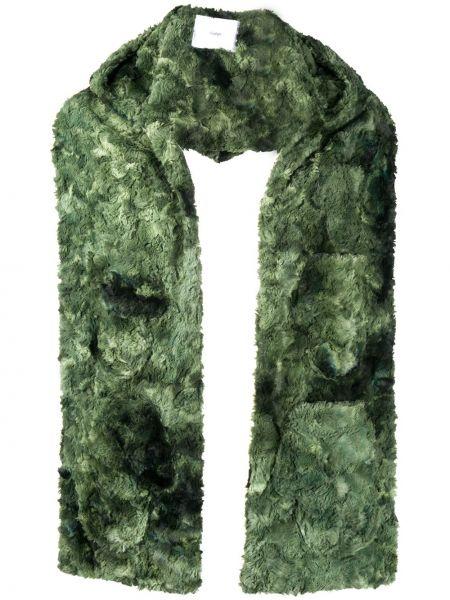 Klasyczny zielony szalik z kapturem Goodfight