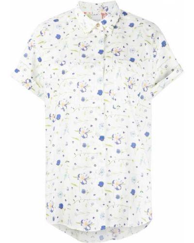 Белая классическая рубашка с короткими рукавами с воротником Paul Smith