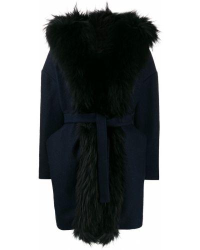Пальто с капюшоном с поясом айвори Ava Adore