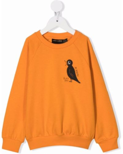 Pomarańczowa bluza z nadrukiem z printem Mini Rodini