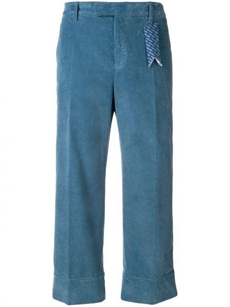 Укороченные брюки вельветовые с завышенной талией The Gigi