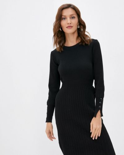 Черное трикотажное платье Izabella