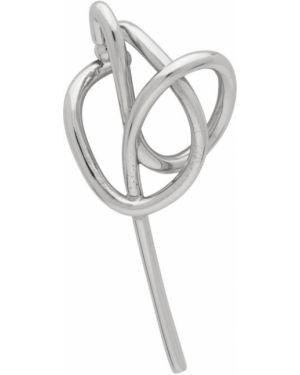 Серьги серебряные с логотипом Alan Crocetti