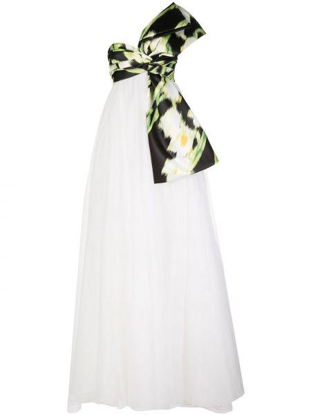 Вечернее платье на молнии ампир Carolina Herrera