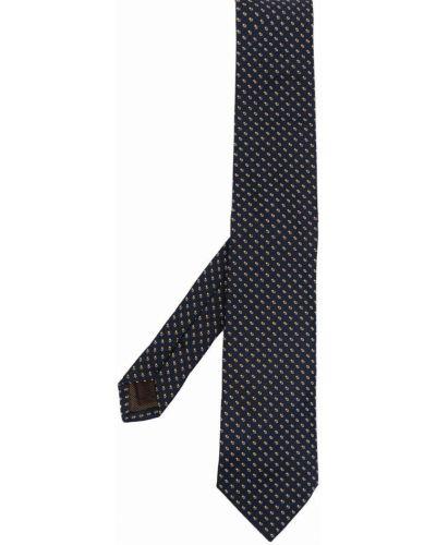 Krawat z printem - niebieski Churchs