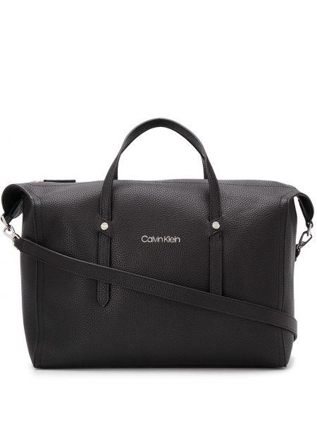 Черная сумка-тоут с карманами Calvin Klein