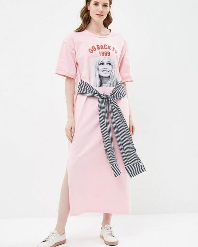 Платье весеннее розовое Brigitte Bardot