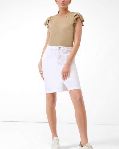 Spódnica ołówkowa bawełniana - biała Orsay