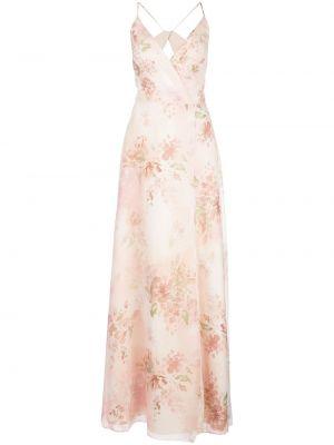 Платье с запахом - розовое Marchesa Notte