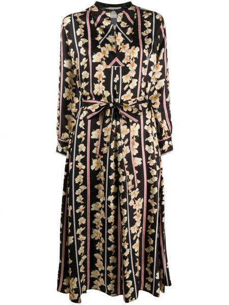 Платье макси с цветочным принтом с рукавами Forte Forte