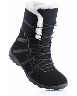 Теплые черные зимние ботинки Bonprix