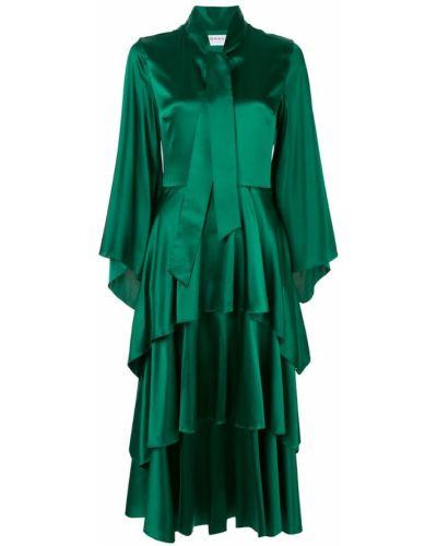 Платье с поясом с рукавом колокол с воротником Osman